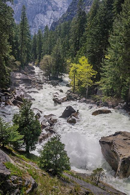 Merced River below Vernal Falls and above Yosemite Valley, Yosemite National Park, California