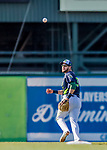 16 July 2017: Vermont Lake Monsters infielder Javier Godard in action against the Auburn Doubledays at Centennial Field in Burlington, Vermont. The Monsters defeated the Doubledays 6-3 in NY Penn League action. Mandatory Credit: Ed Wolfstein Photo *** RAW (NEF) Image File Available ***