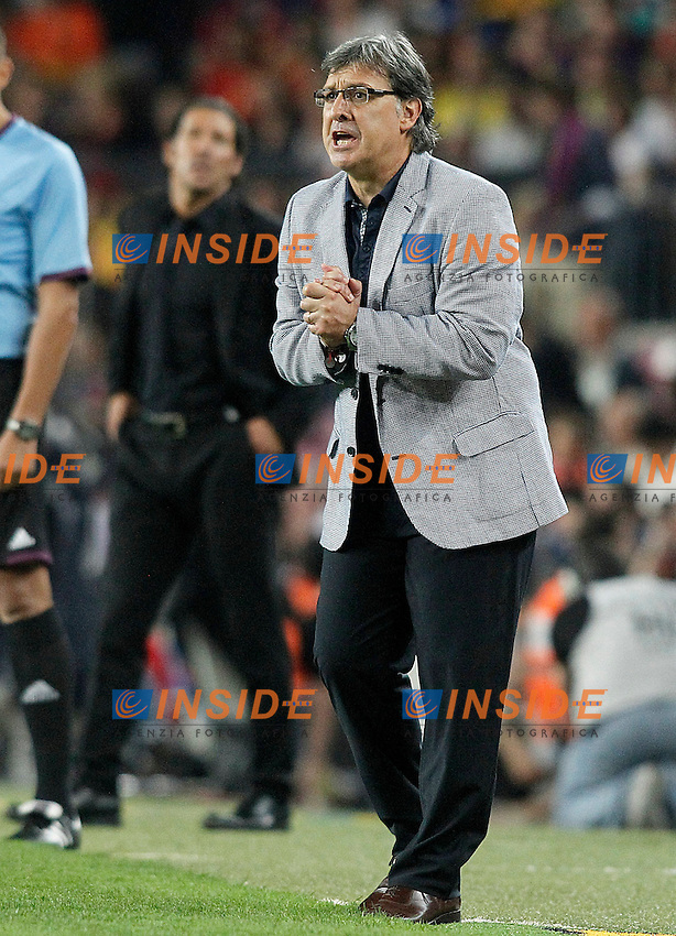 FC Barcelona's coach Gerardo Tata Martino during Supercup of Spain 2nd match.August 28,2013. (ALTERPHOTOS/Acero) <br /> Football Calcio 2013/2014<br /> La Liga Spagna Supercoppa di Spagna Barcellona - Atletico MAdrid <br /> Foto Alterphotos / Insidefoto <br /> ITALY ONLY