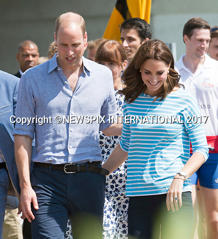 20.07.2017; Heidelberg, Germany: KATE MIDDLETON AND PRINCE WILLIAM<br /> get close after participating as cox to different teams competing in the Heidelberg v Cambridge rowing race in the university town of Heidelberg.<br /> Mandatory Photo Credit: &copy;Francis Dias/NEWSPIX INTERNATIONAL<br /> <br /> IMMEDIATE CONFIRMATION OF USAGE REQUIRED:<br /> Newspix International, 31 Chinnery Hill, Bishop's Stortford, ENGLAND CM23 3PS<br /> Tel:+441279 324672  ; Fax: +441279656877<br /> Mobile:  07775681153<br /> e-mail: info@newspixinternational.co.uk<br /> Usage Implies Acceptance of Our Terms &amp; Conditions<br /> Please refer to usage terms. All Fees Payable To Newspix International
