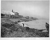 Shore of Lake Michigan from 23rd Street, Chicago, Illinois, 1892.