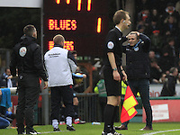 Wycombe manager Gareth Ainsworth can't believe his team were not awarded a penalty during the Sky Bet League 2 match between Wycombe Wanderers and Luton Town at Adams Park, High Wycombe, England on 6 February 2016. Photo by Liam Smith.
