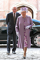 Queen Elizabeth II and Prince Philip - Evensong at Hampton Court Palace