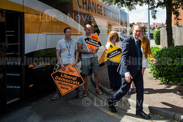 Tim Farron (Leader of the Liberal Democrats).<br /> <br /> Norbiton (England), 01/06/2017. Today, Tim Farron (Leader of the Liberal Democrats), Nick Clegg (Liberal Democrats politician and Former British Deputy Prime Minister of the Coalition Government 2010-2015 - Conservative Party and Liberal Democrats), Sarah Olney (Former Liberal Democrats Member of Parliament for Richmond Park, she will contest the same seat in the 2017 general election) and Ed Davey (Liberal Democrat politician, former Member of Parliament for Kingston and Surbiton from 1997 to 2015; Former Secretary of State for Energy and Climate Change from 2012 to 2015 in the Conservative-Liberal Democrat coalition Government) visited Kingston Hospital to meet and discuss with representatives of the EU national staff of the hospital which created the &quot;Brexit Support Group&quot;. The discussion was followed by a rally at the Shiraz Mirza Community Hall with members and supporters of the Liberal Democrats. <br /> <br /> For more information please click here: http://www.libdems.org.uk/manifesto<br /> <br /> For more information about the Hospital please click here: https://www.kingstonhospital.nhs.uk/