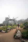 USA, California, Big Sur, Esalen, the Buddha garden in the early morning fog