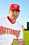 28 February 2010: Washington Nationals catcher Jamie Burke poses for his Spring Training photo at Space Coast Stadium in Viera, Florida. Mandatory Credit: Ed Wolfstein Photo