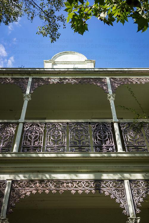 Ornate decorative balcony in Melbourne