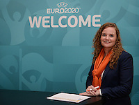 20161216 - AMSTERDAM , NETHERLANDS : Dutch KNVB employee pictured as a host during the UEFA EURO 2020 Host City Logo Launch event at the Hermitage Amsterdam Venue in Amsterdam , The Netherlands , Friday 16 th December 2016 . PHOTO UEFA.COM | SPORTPIX.BE | DAVID CATRY