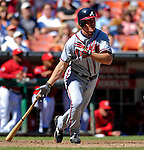 16 September 2007: Atlanta Braves third baseman Chipper Jones in action against the Washington Nationals at Robert F. Kennedy Memorial Stadium in Washington, DC. The Braves shut out the Nationals 3-0 to take the third game of their 3-game series.. .Mandatory Photo Credit: Ed Wolfstein Photo