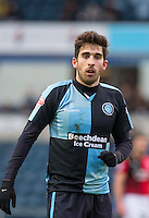 Goalscorer Max Kretzschmar of Wycombe Wanderers during the Sky Bet League 2 match between Wycombe Wanderers and Crawley Town at Adams Park, High Wycombe, England on 28 December 2015. Photo by Andy Rowland / PRiME Media Images