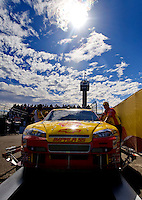 Nov. 9, 2008; Avondale, AZ, USA; The car of NASCAR Sprint Cup Series driver Kevin Harvick goes through inspection prior to the Checker Auto Parts 500 at Phoenix International Raceway. Mandatory Credit: Mark J. Rebilas-