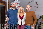 Enjoying the Aspen Grove Thanks giving Dinner at Benners Hotel on Friday were Alan Fitzgerald,  Noelle O Brien and Gearóid O'Sullivan