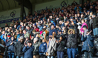Wycombe supporters during the Sky Bet League 2 match between Notts County and Wycombe Wanderers at Meadow Lane, Nottingham, England on 28 March 2016. Photo by Andy Rowland.