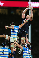 George Kruis of England wins the ball at a lineout. Old Mutual Wealth Series International match between England and Argentina on November 26, 2016 at Twickenham Stadium in London, England. Photo by: Patrick Khachfe / Onside Images