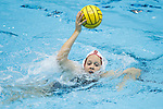 INDIANAPOLIS, IN - MAY 14: Shannon Cleary (12) of Stanford University in action against Alexis Angermund (15) of UCLA during the Division I Women's Water Polo Championship held at the IU Natatorium-IUPUI Campus on May 14, 2017 in Indianapolis, Indiana. Stanford edges UCLA, 8-7, to win fifth women's water polo title in the past seven years. (Photo by Joe Robbins/NCAA Photos/NCAA Photos via Getty Images)