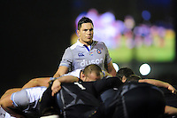 Francois Louw of Bath Rugby looks on at a scrum. Aviva Premiership match, between Newcastle Falcons and Bath Rugby on January 6, 2017 at Kingston Park in Newcastle upon Tyne, England. Photo by: Patrick Khachfe / Onside Images