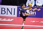 Toshitaka Naito (JPN), <br /> AUGUST 24, 2018 - Sepak takroae : <br /> Men's Doubles Semi-final  match Thailand - Japan <br /> at Jakabaring Sport Center Ranau Hall <br /> during the 2018 Jakarta Palembang Asian Games <br /> in Palembang, Indonesia. <br /> (Photo by Yohei Osada/AFLO SPORT)