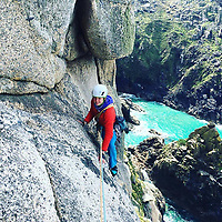 "Pictured: Lucy Foster during one of her previous trips.<br /> Re: A British climber was killed and his wife seriously injured living their ""big dream"" on one of the toughest rock faces in the world.<br /> Andrew Foster, 32, and his wife Lucy, 28, were buried under tons of falling rock as they prepared for their climb.<br /> Experienced climber Andrew was killed but Lucy was rescued and airlifted to hospital where she was in a ""critical"" condition.<br /> The couple were married a year ago and the three-week trip to the Yosemite National Park in California was part of their first wedding anniversary celebrations.<br /> They had ben training for the expedition for six months and flew off to the States on September 11 along with other members of their climbing club.<br /> Andrew and Lucy, from Cardiff, were scouting out a descent of the iconic rockface El Capitan when a ""sheet"" of granite fell on them.<br /> Rangers on the national park beauty spot said a piece of granite 40 metres by 20 metres fell from a height of 200 metres while the couple were below.<br /> Patagonia, a company owned by Andrew Foster has confirmed the incident."