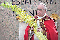 Pope Francis during of the Palm Sunday celebration on St Peter's square at the Vatican.March 24,2013