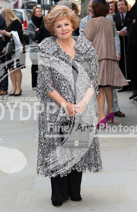 Barbara Knox arriving for the wedding of Coronation Street actress Helen Worth   at St.James's Church in Piccadilly, London, Saturday 6th   April 2013.  Photo by: Stephen Lock / i-Images / DyD Fotografos