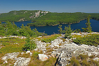 Killarney Lakeand the quartzite rock of the La Cloche Hills<br /> Killarney Provincial Park<br /> Ontario<br /> Canada