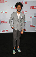 9 August 2018-  Westwood, California - Johnathan Fernandez. Premiere Of STX Films' &quot;Mile 22&quot; held at The Regency Village Theatre. <br /> CAP/MPIFS<br /> &copy;MPIFS/Capital Pictures