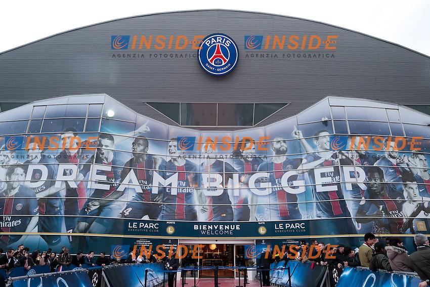 Panoramica Stadio Parc des Princes  <br /> Parigi 14-02-2017 Parco dei Principi <br /> Paris Saint Germain - Barcellona Champions League 2016/2017 <br /> Foto Gwendoline Le Goff / Panoramic / Insidefoto