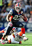 11 October 2009: Buffalo Bills' running back Marshawn Lynch (23) rushes for a first down in the third quarter against the Cleveland Browns at Ralph Wilson Stadium in Orchard Park, New York. The Browns defeated the Bills 6-3 for Cleveland's first win of the season...Mandatory Photo Credit: Ed Wolfstein Photo