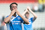 Partick Thistle v St Johnstone&hellip;10.09.16..  Firhill  SPFL<br />Chris Millar celebartes with the fans at full time<br />Picture by Graeme Hart.<br />Copyright Perthshire Picture Agency<br />Tel: 01738 623350  Mobile: 07990 594431