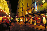 Paris, France. Latin Quarter at night. Paris, France Latin Quarter.