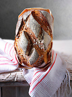 Artisan organic Yorkshire cobble bread loaf