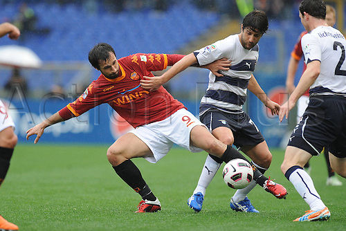 13.03.2011 Francesco Totti scored a free-kick and a penalty to win the Rome derby as Stefan Radu and Cristian Ledesma saw red for Lazio...Picture shows Mirko Vucinic.