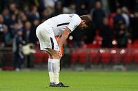 A despondent  Jan Vertonghen of Tottenham Hotspur after Tottenham Hotspur vs Juventus, UEFA Champions League Football at Wembley Stadium on 7th March 2018