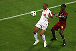 05 July 2006: Thierry Henry (FRA) (12) looks to settle the ball in front of Miguel (POR) (13). France defeated Portugal 1-0 at the Allianz Arena in Munich, Germany in match 62, the second semifinal game, in the 2006 FIFA World Cup.