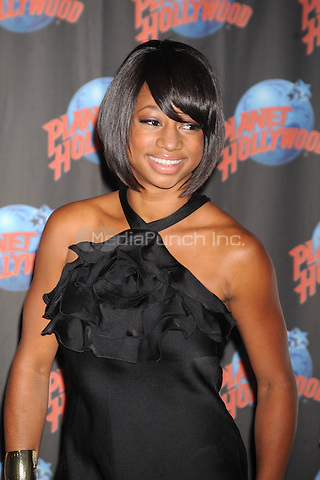 Monique Coleman promotes her new movie 'High School Musical 3: Senior Year' at Planet Hollywood in Times Square, New York City. October 22, 2008. Credit: Dennis Van Tine/MediaPunch