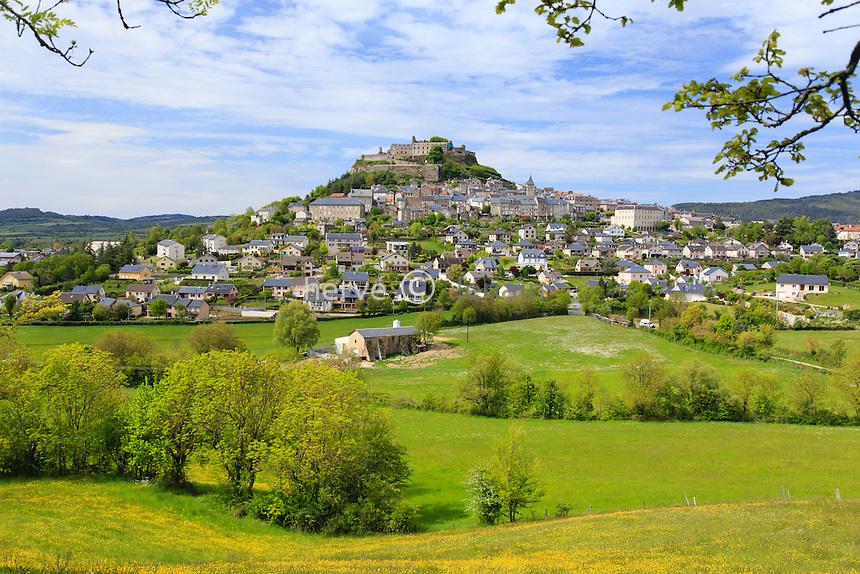 France, Aveyron (12), Sévérac-le-Château // France, Aveyron, Severac-le-Chateau
