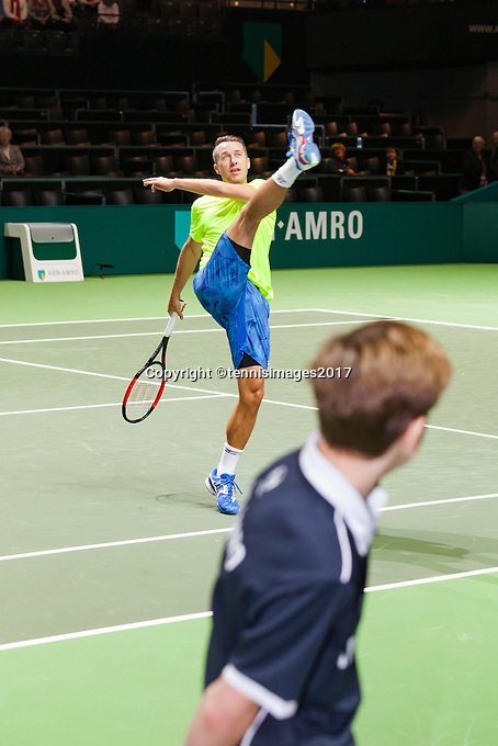 ABN AMRO World Tennis Tournament, Rotterdam, The Netherlands, 14 februari, 2017, Philipp Kohlschreiber (GER)<br /> Photo: Henk Koster