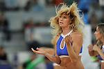 Cheerleader. Partido de Euroliga entre el Real Madrid y el EA7 Armani. 28 de Octubre 2011. La Caja M·gica. Madrid...Photo: Marcos / ALFAQUI
