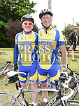 Peter Lyons and Tommy Clarke who took part in the annual Dromin charity cycle. Photo:Colin Bell/pressphotos.ie