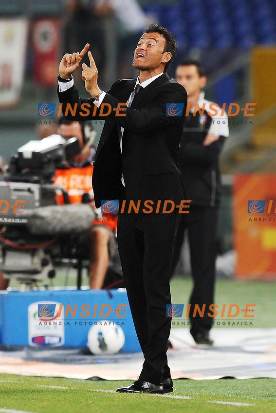 """Luis Enrique Allenatore della Roma. Roma coach.Roma 22/9/2011 Stadio """"Olimpico"""".Football Calcio Serie A 2011/2012.Roma Vs Siena.Foto Insidefoto Antonietta Baldassarre"""