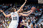 Real Madrid's player Jaycee Carroll and Barcelona's player Satoransky during Liga Endesa 2015/2016 Finals 4th leg match at Barclaycard Center in Madrid. June 20, 2016. (ALTERPHOTOS/BorjaB.Hojas)
