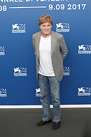 Robert Redford at the &quot;Our Souls At Night&quot; photocall, 74th Venice Film Festival in Italy on 1 September 2017.<br /> <br /> Photo: Kristina Afanasyeva/Featureflash/SilverHub<br /> 0208 004 5359<br /> sales@silverhubmedia.com