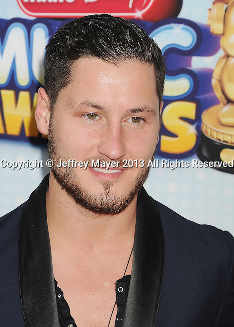 LOS ANGELES, CA- APRIL 27: Professional dancer Val Chmerkovskiy arrives at the 2013 Radio Disney Music Awards at Nokia Theatre L.A. Live on April 27, 2013 in Los Angeles, California.