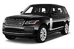 2018 Land Rover Range Rover Autobiography 5 Door SUV angular front stock photos of front three quarter view