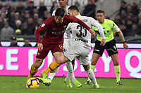 A possible penalty foul of Danilo D'Ambrosio of Internazionale on Nicolo Zaniolo of AS Roma with referee Gianluca Rocchi well positioned during the Serie A 2018/2019 football match between AS Roma and FC Internazionale at stadio Olimpico, Roma, December, 2, 2018 <br />  Foto Andrea Staccioli / Insidefoto