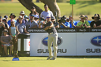 James Nitties (AUS) in action on the 4th during the Matchplay Final of the ISPS Handa World Super 6 Perth at Lake Karrinyup Country Club on the Sunday 11th February 2018.<br /> Picture:  Thos Caffrey / www.golffile.ie<br /> <br /> All photo usage must carry mandatory copyright credit (&copy; Golffile | Thos Caffrey)