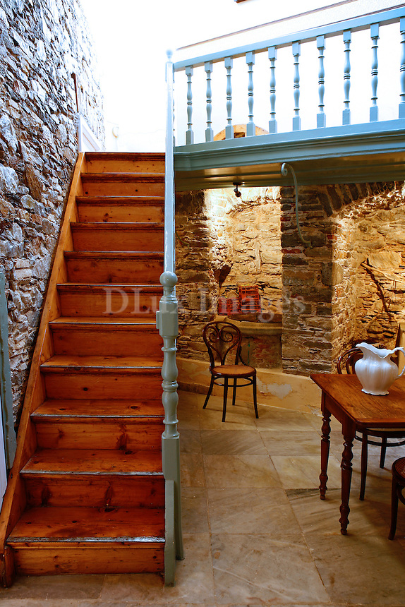 Mrs. Rania Nikolopoulou's house was built in the late 19th century on the Greek island of Syros..