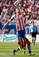 Atletico's Gabi and Granada's Torje during La Liga BBVA match. April 14, 2013.(ALTERPHOTOS/Alconada)