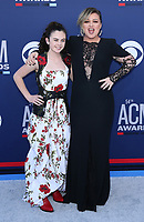07 April 2019 - Las Vegas, NV - Chevel Shephard, Kelly Clarkson<br /> . 2019 ACM Awards at MGM Grand Garden Arena, Arrivals. Photo Credit: mjt/AdMedia