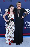 07 April 2019 - Las Vegas, NV - Chevel Shephard, Kelly Clarkson<br /> . 2019 ACM Awards at MGM Grand Garden Arena, Arrivals. Photo Credit: mjt/AdMedia